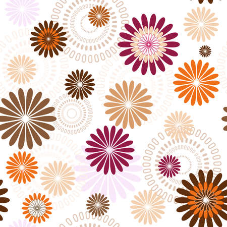 repeating pattern: Seamless floral pastel pattern with flowers (vector)