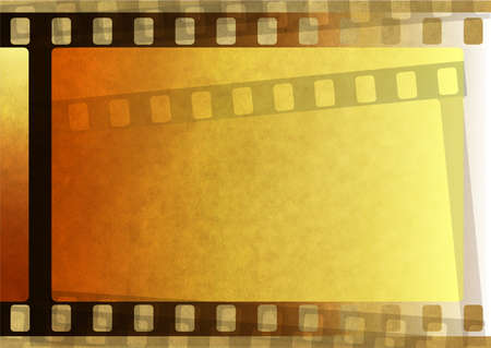 fragmentary: Old brown paper with fragmentary filmstrip. Background