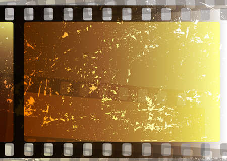 fragmentary: Grunge fragmentary film strips. Background for design (vector EPS 10) Illustration