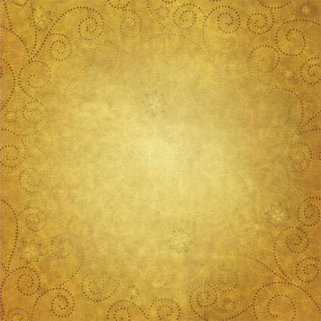 grange: Old yellow paper with floral pattern Stock Photo