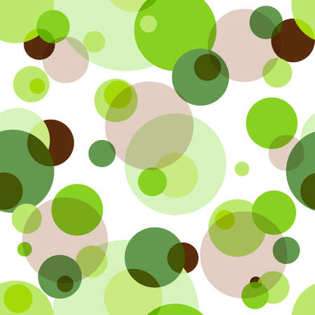 Abstract seamless pattern with green and brown  circles (vector EPS 10) Vector