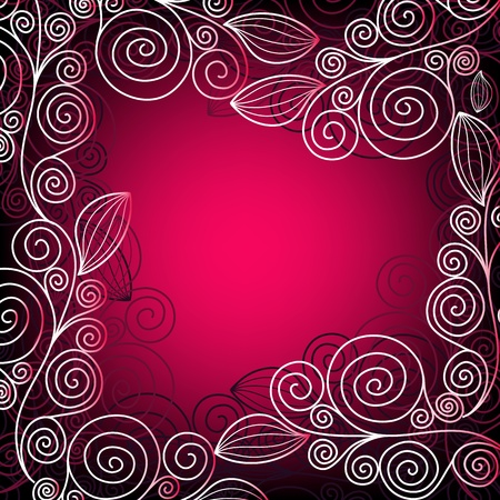 Christmas vivid pink-purple elegance frame with  lace (vector) Vector