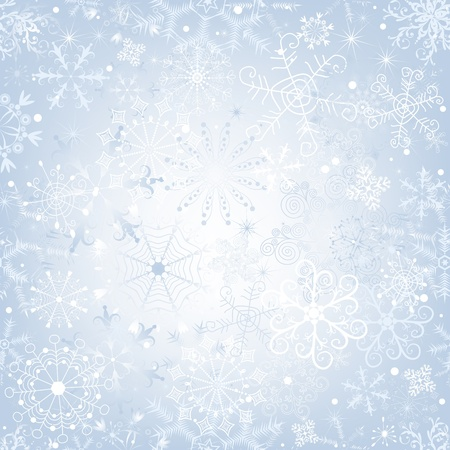 silvery: Christmas gentle silvery seamless pattern with snowfall (vector)
