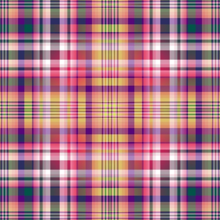 Seamless violet-green-yellow checkered pattern (vector EPS 10) Vector