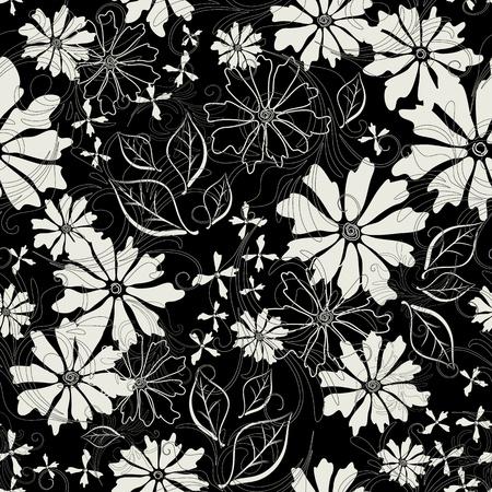 effortless: Patr�n de esfuerzo floral con flores de color blanco (vector EPS 10)