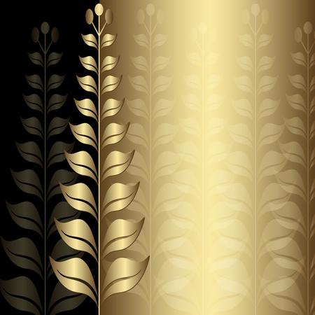 Vintage gold elegance frame with transparent floral border  Vector