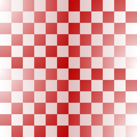 interval: Seamless red and white checkered pattern with thin diagonal lines