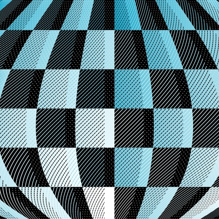 diagonals: Mottled geometric background of blue-gray deformed cells, diagonals and points (vector)