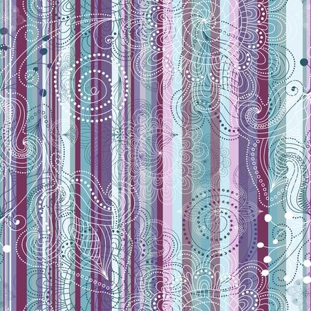 translucent: Colorful floral  translucent seamless striped vintage pattern  Illustration