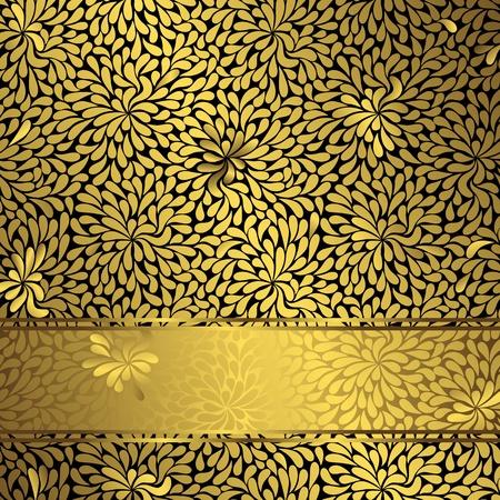 scattering: Vintage gold elegance frame with scattering gold drops