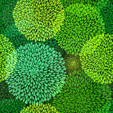bash: Seamless pattern with  transparent green balls on dark background (vecto EPS 10r) Illustration