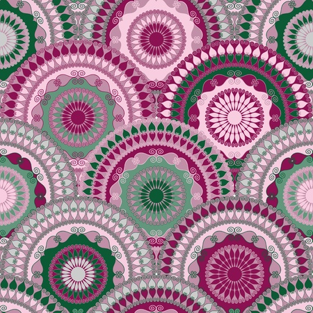 Colorful vintage vivid seamless pattern with circles Vector