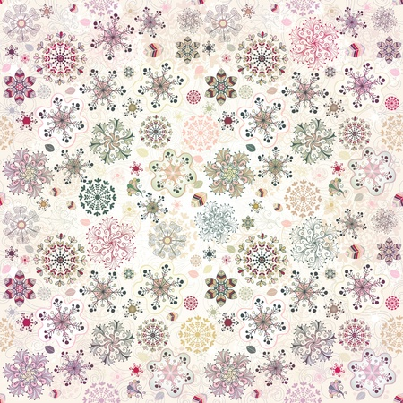 Christmas pastel seamless pattern with colorful snowflakes Stock Photo - 16332264