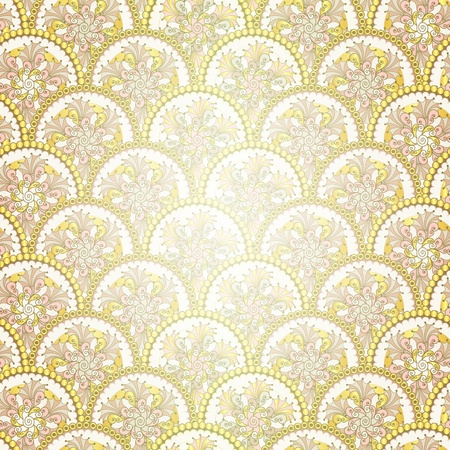 Golden vintage seamless pattern with circles Stock Photo - 16332263