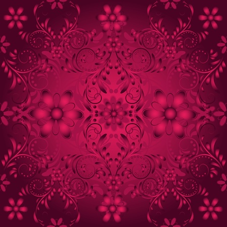 purple stars: Dark purple seamless pattern with vintage  vinous tracery(vector)