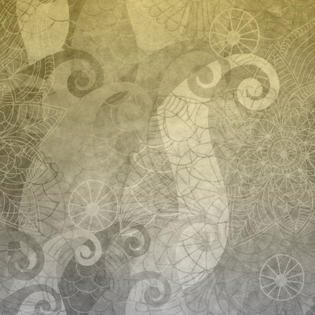 antique wallpaper: Gray old wallpaper with vintage pattern