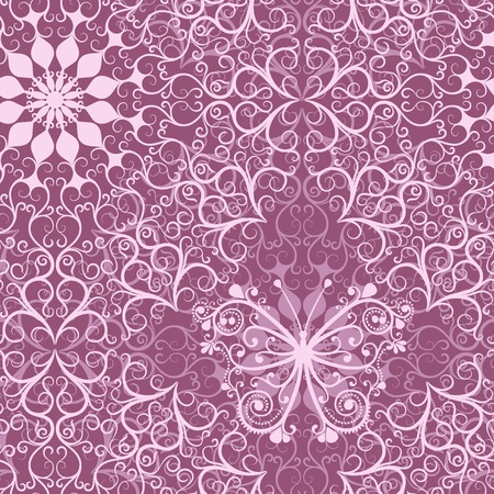 Pink lacy vintage seamless pattern with mandala and butterfly  Stock Vector - 19052482