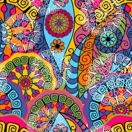 Seamless pattern with colorful abstracts figures (vector) Illustration