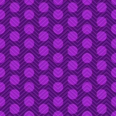 polkadot: Seamless violet vintage pattern with transparent pink polka dots Illustration