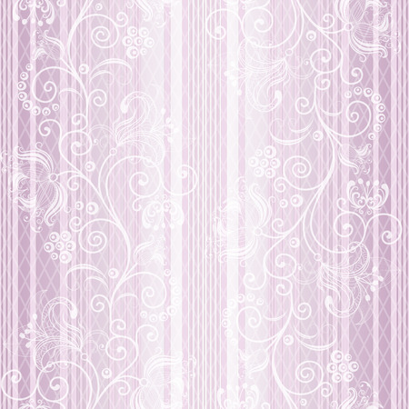 a pink cell: Seamless gentle pastel striped pattern with vintage ornament and translucent rhombus