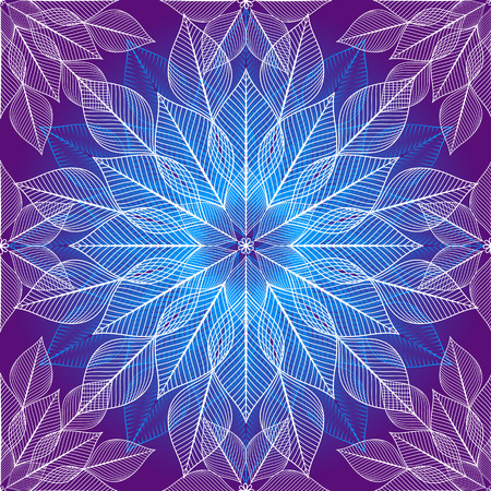 bash: Seamless violet christmas pattern with white and blue snowflakes (vector)