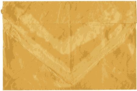 old envelope: Old shabby sealed envelope with torn edges