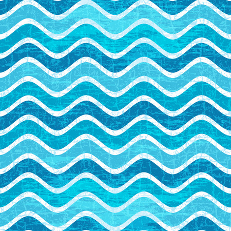 ripply: Seamless pattern with blue waves in grunge style (vector eps 10)