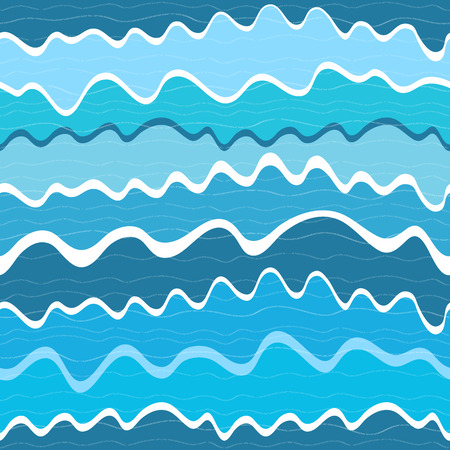 blue waves: Seamless pattern a strisce con onde blu (vector)