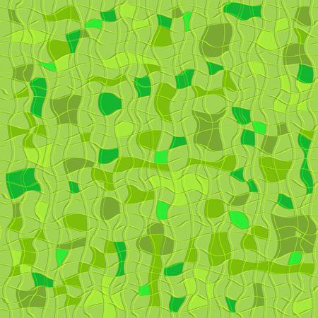 irregular: Green seamless checkered pattern with irregular stripes