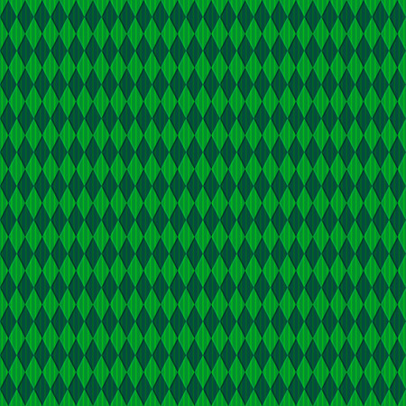 Green seamless pattern with rhombuses and translucent vertical stripes  Vector