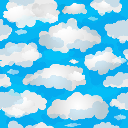 nebulous: Spring seamless pattern with blue sky and white translucent clouds