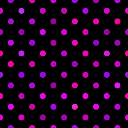 Seamless black pattern with colorful dots (  Vector