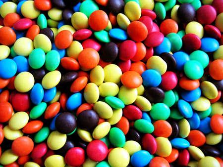 obesidad infantil: Colores de chocolate Foto de archivo