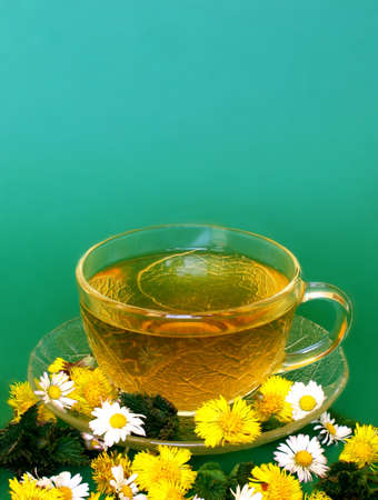 Spring tea  Stock Photo