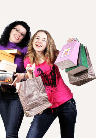 Mother and daughter on purchases Stock Photo - 2812996