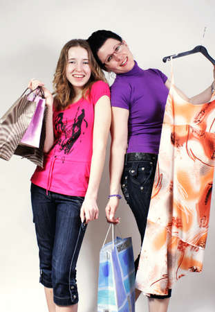 Mother and daughter on purchases Stock Photo - 2812659