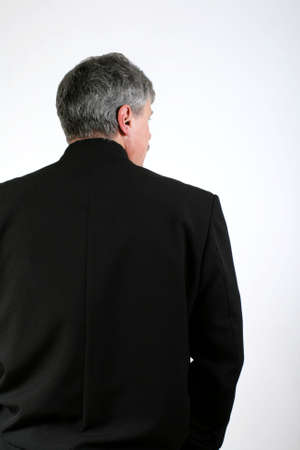 business man from the back Stock Photo