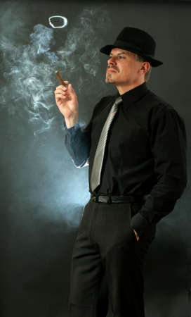 mafia: man smoking cigar