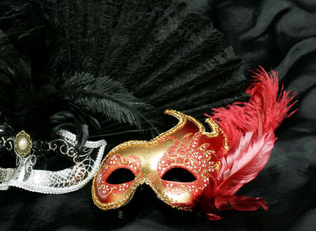 beautiful and mysterious carnival mask  Stock Photo