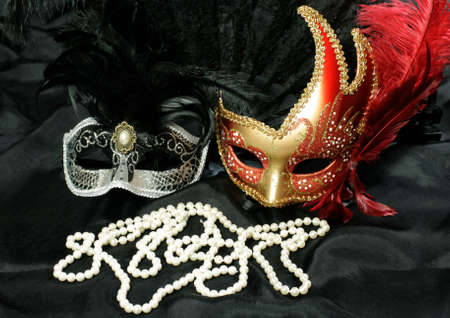 concealed: beautiful and mysterious carnival mask  Stock Photo
