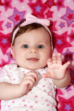 beautiful smiling and happy baby - a portrait
