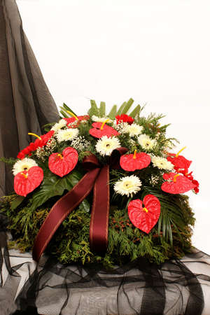 Funeral wreath Stock Photo