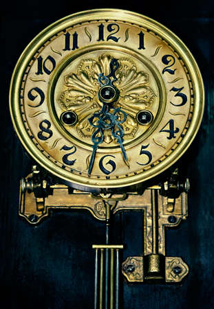 past midnight: Dial of ancient hours of the forgotten things hanging in a dark closet...