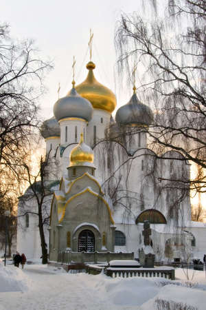 decline: Moscow. A decline in Novodevichij Monastyr during a strong frost Stock Photo