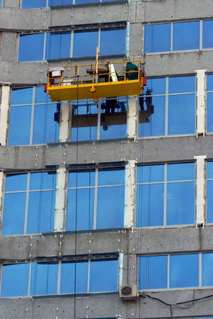 High-altitude washermen of windows photo