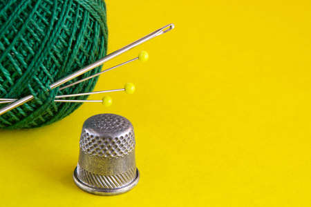 darn: Still-life from colourful sewing accessories