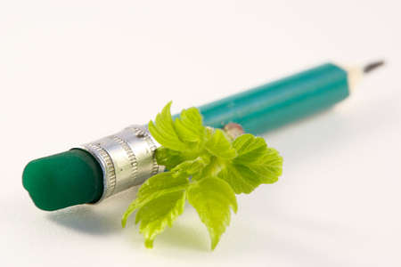 embody: Second life of a pencil-spring inspiration Stock Photo