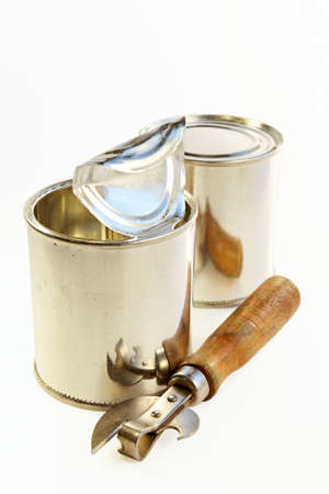 Edge of an old can opener-the decision of problems checked up by time Stock Photo - 392042