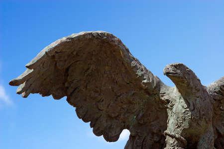 imprisoned: Stone imprisoned eagle