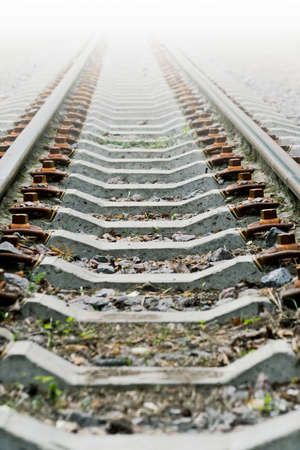 transposition: mysterious railway to somewhere Stock Photo